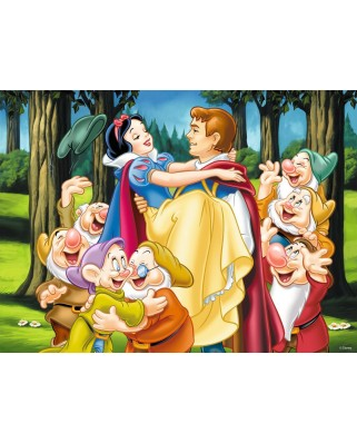 Puzzle Ravensburger - Snow White and her Prince, 200 piese XXL (12715)