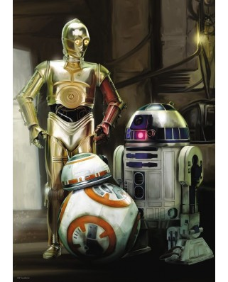 Puzzle Ravensburger - Star Wars - C3PO, R2-D2 & BB-8, 1.000 piese (19779)