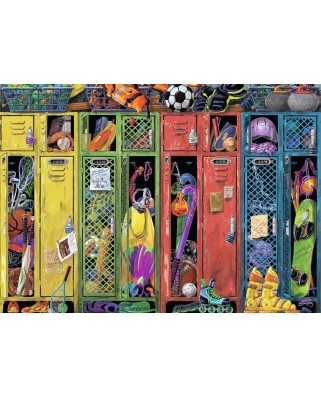 Puzzle Ravensburger - The Locker Room, 1.000 piese (19862)