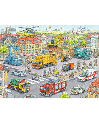 Puzzle Ravensburger - Transport, 100 piese XXL (10558)