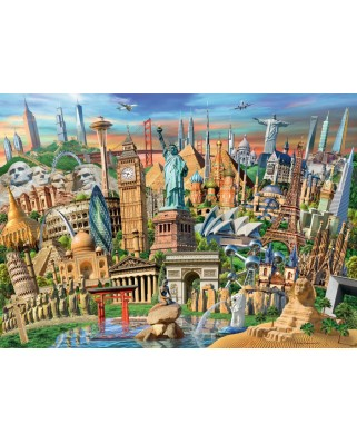 Puzzle Ravensburger - World Landmarks, 1.000 piese (19890)