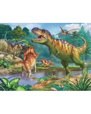 Puzzle Ravensburger - World of Dinosaurs, 100 piese XXL (13695)