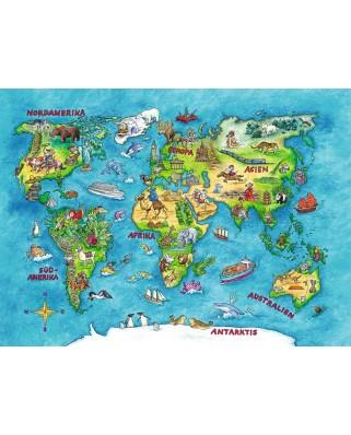 Puzzle Ravensburger - World Trip, 100 piese XXL (10595)