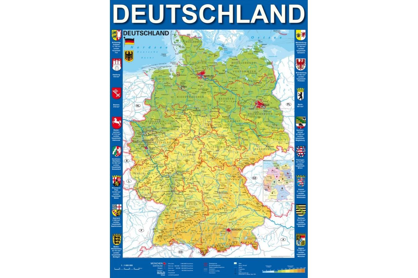 Puzzle Schmidt Harta Germaniei 1 000 Piese 58287 We Puzzle