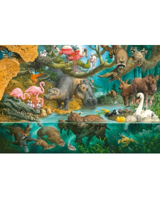 Puzzle Schmidt - Animal Families At The Riverside, 100 piese (56306)
