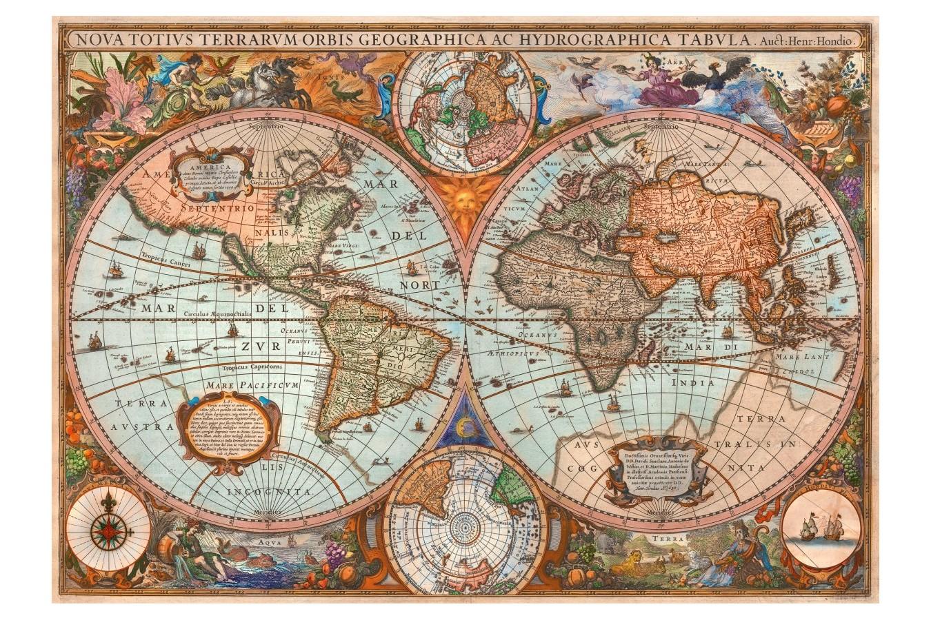 Puzzle Schmidt Harta Antica A Lumii 3 000 Piese 58328 We