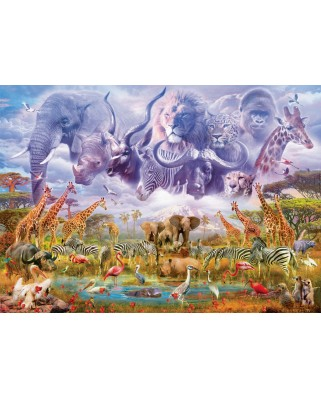 Puzzle Schmidt - Animals At The Waterhole, 1.000 piese (58356)