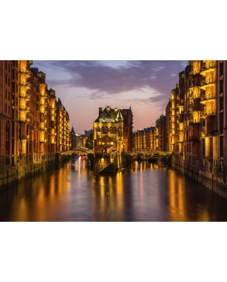 Puzzle Schmidt - Hamburg - Nightfall In The Warehouse District, 1.000 piese (58358)