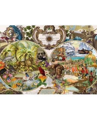 Puzzle Schmidt - Harta Exotica A Lumii, 2.000 piese (58362)