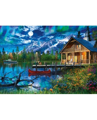 Puzzle Schmidt - Mountain Lake In The Moonlight, 500 piese (58365)