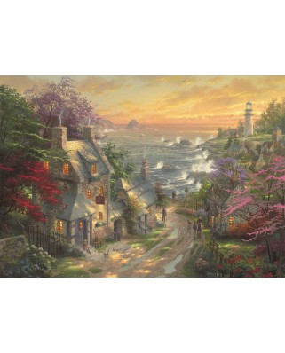 Puzzle Schmidt - Thomas Kinkade: The Village Lighthouse, 3000 piese (59482)