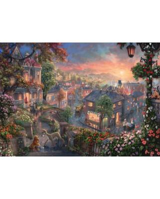 Puzzle Schmidt - Thomas Kinkade: Doamna Si Vagabondul, 1.000 piese (59490)
