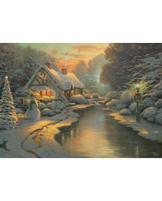 Puzzle Schmidt - Thomas Kinkade: On Christmas Eve, Limited Edition, 1.000 piese (59492)