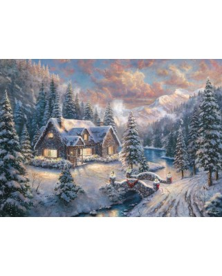Puzzle Schmidt - Thomas Kinkade: Christmas In The Mountains, Limited Edition, 1.000 piese (59493)