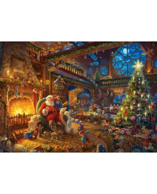 Puzzle Schmidt - Thomas Kinkade: Santa Claus And His Elves, Limited Edition, 1.000 piese (59494)