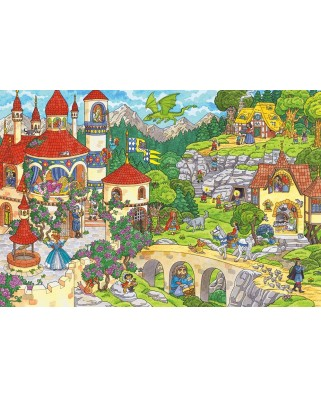 Puzzle Schmidt - A Fairytale Kingdom, 100 piese (56311)