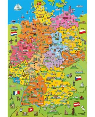 Puzzle Schmidt - Harta Desenata A Germaniei, 200 piese (56312)