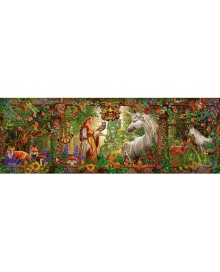 Puzzle panoramic Schmidt - Ciro Marchetti: Magic Forest, 1.000 piese (59614)