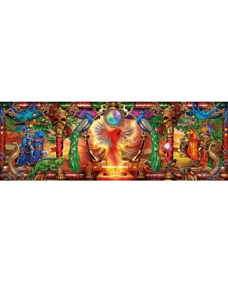 Puzzle panoramic Schmidt - Ciro Marchetti: Kingdom Of The Firebird, 1.000 piese (59615)
