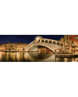 Puzzle panoramic Schmidt - Manfred Voss: Rialto Bridge, 1.000 piese (59620)