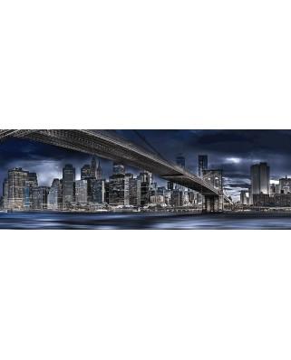 Puzzle panoramic Schmidt - Manfred Voss: New York, Dark Night, 1000 piese (59621)