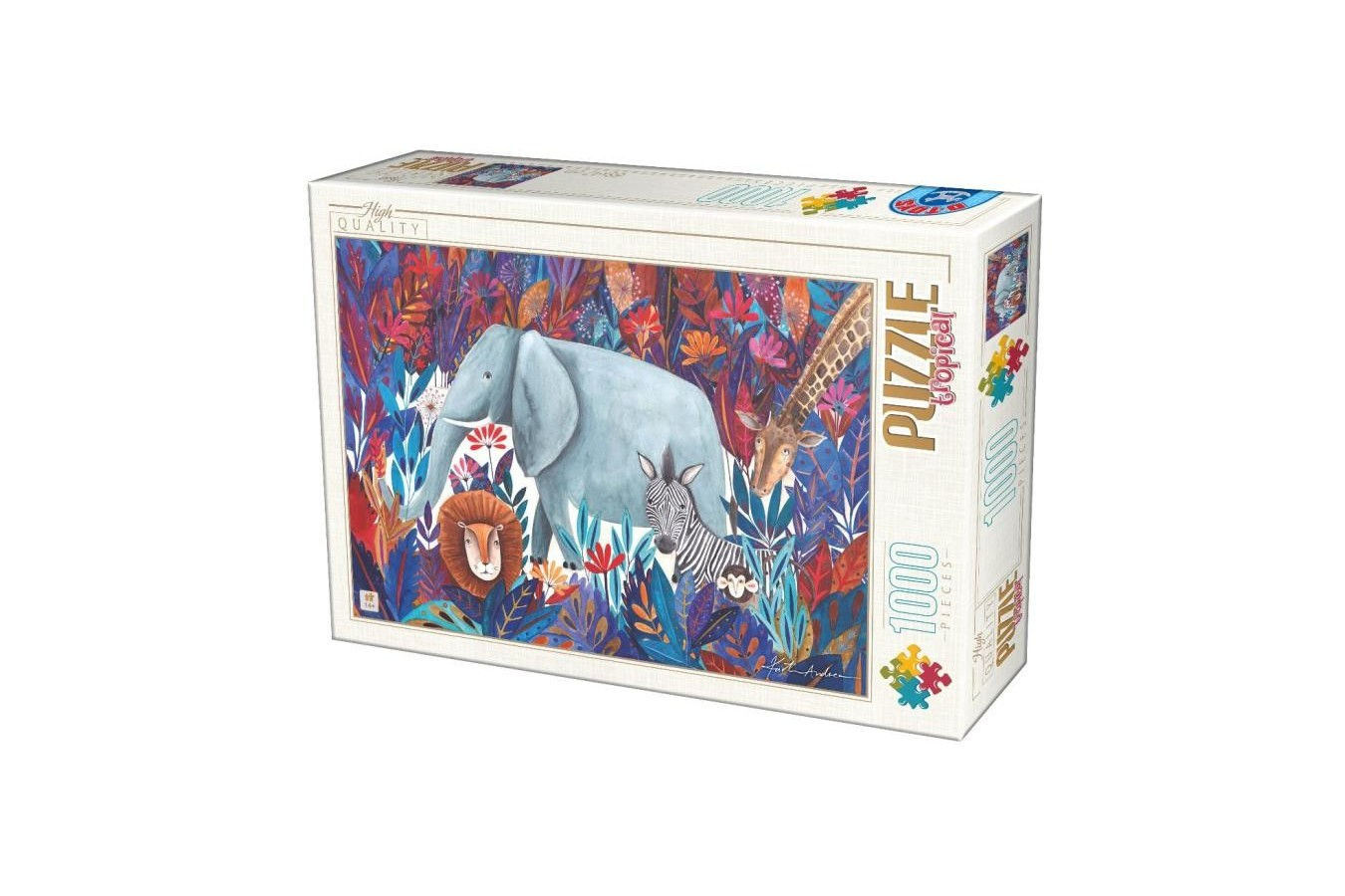 Puzzle D-Toys - Andrea Kurti: Tropical, 1000 piese (72887-04)