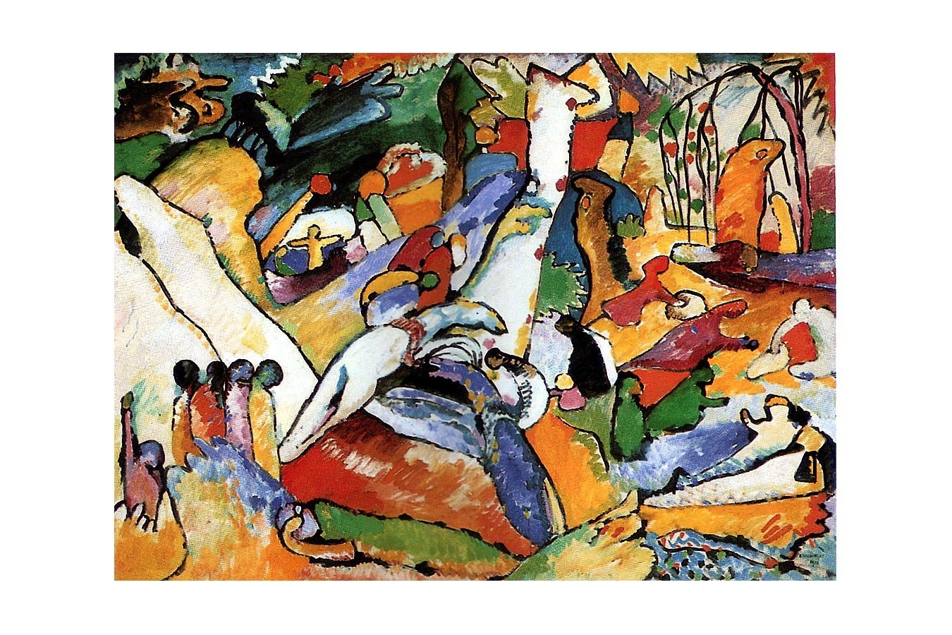 """Puzzle D-Toys - Vassily Kandinsky: Sketch for """"Composition II"""" / study, 1.000 piese (72849-1)"""