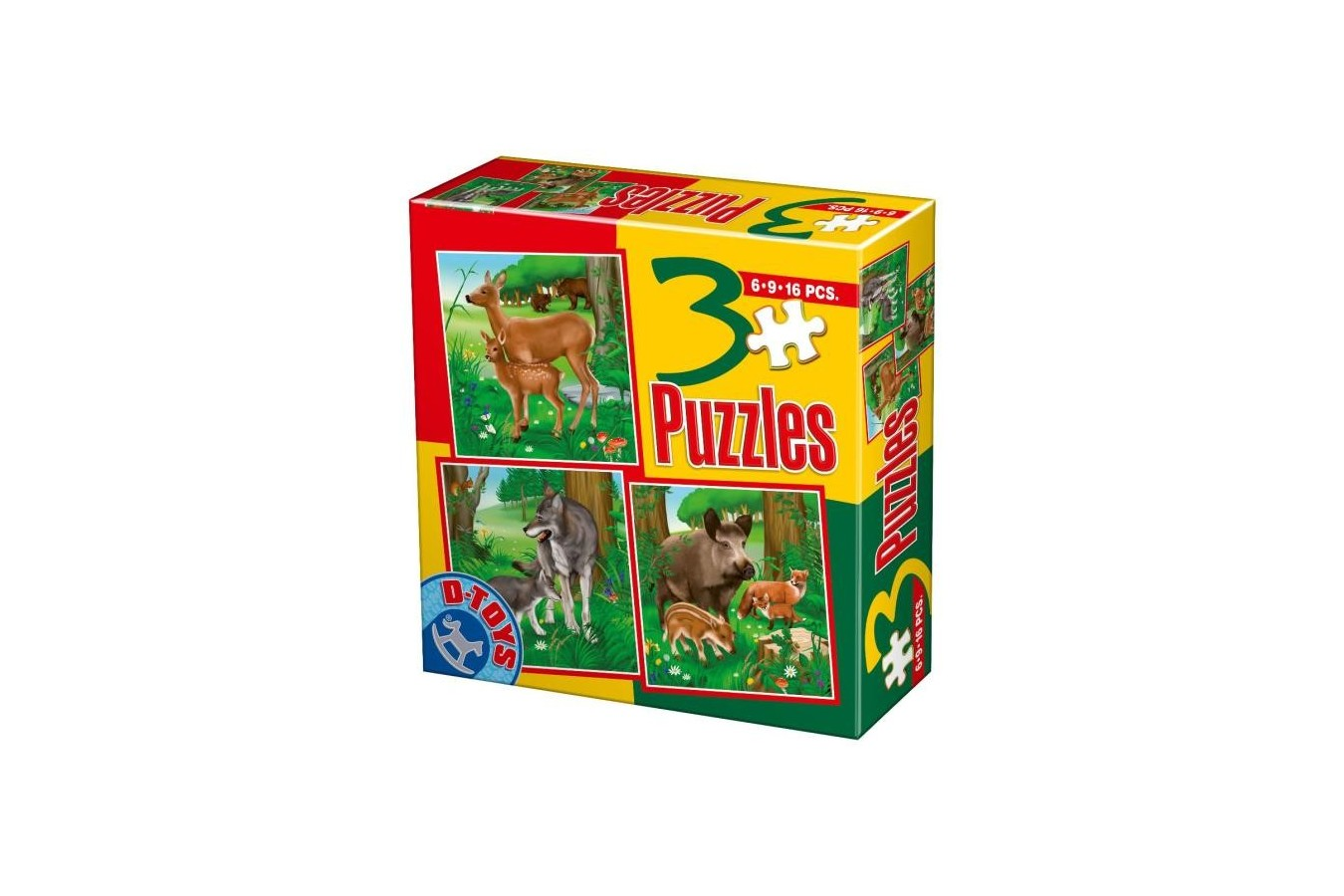 Puzzle D-Toys - Animale Salbatice, 6/9/12 piese (60150-3)