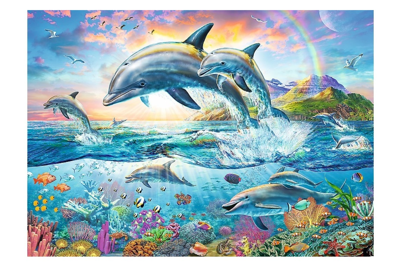 Puzzle Trefl - Happy Dolphins, 2000 piese (27087)
