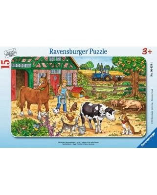 Puzzle Ravensburger - Viata La Ferma, 15 piese (06035)