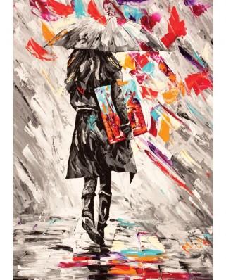 Puzzle Art Puzzle - Art Critic, 500 piese alb-negru (Art-Puzzle-4165)