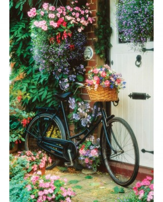 Puzzle Art Puzzle - Bicycle and Flowers, 500 piese (Art-Puzzle-4166)
