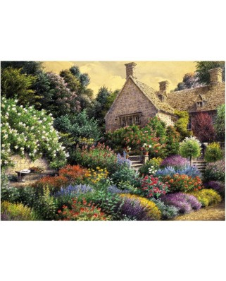 Puzzle Art Puzzle - Cottage and Colorful Garden, 1500 piese (Art-Puzzle-4541)