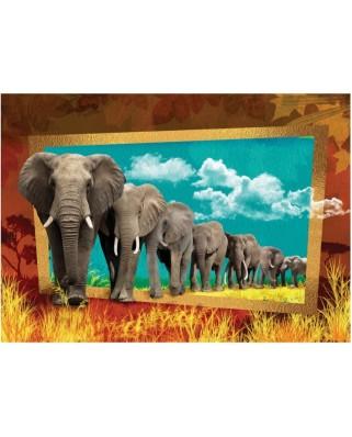 Puzzle Art Puzzle - Elephants, 1.000 piese (Art-Puzzle-4373)