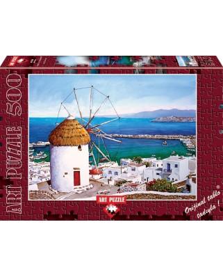 Puzzle Art Puzzle - Grecia - Mykonos, 500 piese (Art-Puzzle-4184)