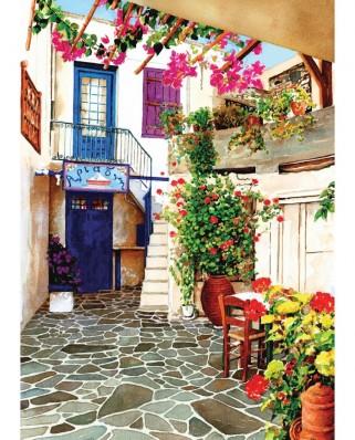Puzzle Art Puzzle - Greece Terrace, 500 piese (Art-Puzzle-4185)