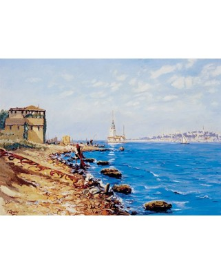 Puzzle Art Puzzle - Maiden's Tower, Istanbul, 1.000 piese (Art-Puzzle-81067)
