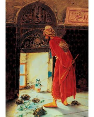 Puzzle Art Puzzle - Osman Hamdi Bey: The Turtle Trainer, 1.000 piese (Art-Puzzle-4452)