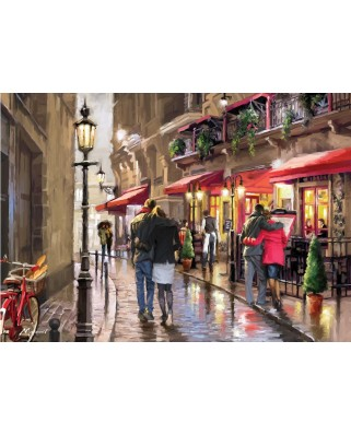 Puzzle Art Puzzle - Richard Macneil: Night Time Cafe, 1500 piese (Art-Puzzle-4635)