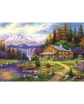 Puzzle Art Puzzle - Sunset in the Mountains, 1.000 piese (Art-Puzzle-4230)