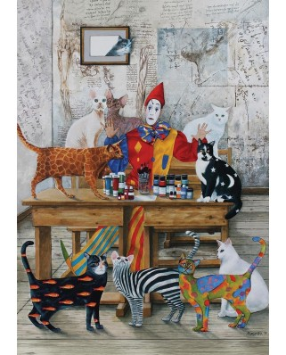 Puzzle Art Puzzle - The Colored Cats, 260 piese (Art-Puzzle-4271)
