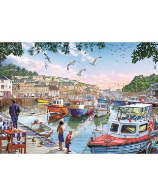 Puzzle Art Puzzle - The Little Fishermen at the Harbour, 1000 piese (Art-Puzzle-4231)