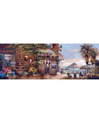 Puzzle panoramic Art Puzzle - James Lee : Cafe Walk II, 1.000 piese (Art-Puzzle-4421)