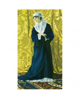 Puzzle panoramic Art Puzzle - Osman Hamdi Bey : Old Istanbul Lady, 1.000 piese (Art-Puzzle-81043)