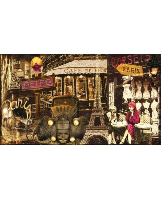 Puzzle panoramic Art Puzzle - Paris, France, 1.000 piese (Art-Puzzle-4470)