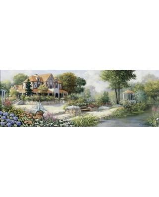 Puzzle panoramic Art Puzzle - Peter Motz: English Cottage, 1.000 piese (Art-Puzzle-4333)