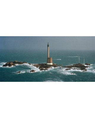 Puzzle panoramic Art Puzzle - Philip Plisson : Les Roches-Douvres Lighthouse, 1.000 piese (Art-Puzzle-4341)