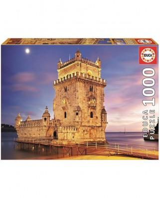 Puzzle Educa - Torre de Belem, Lisbon, 1.000 piese, include lipici (17195)