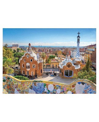 Puzzle Educa - Barcelona - View From Park Guell, 1.000 piese, include lipici (17966)