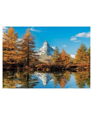 Puzzle Educa - Matterhorn Height in Autumn , 1.000 piese, include lipici (17973)